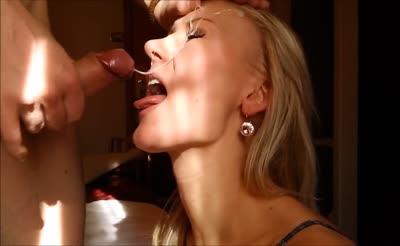 Awesome Beautiful Blonde Gets A Big Facial