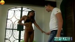 Hairy Latina Slut Sucks A Mean Cock