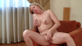 Blonde Haired Angel Is Satisfying Herself