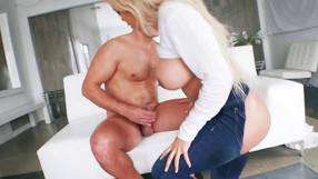 Babe In Jeans Fucked Up Her Nice Anal Hole