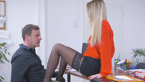 Office Porn Video With Hot Babe Katrin Tequila – She Gets The Job