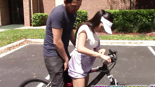Bicycle Makes Emily Menna Pussy Wet