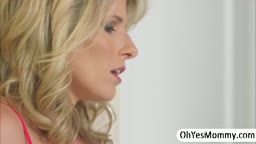 Blonde Milf Grabs A Huge Dick And She Takes Control In Threesome Sex