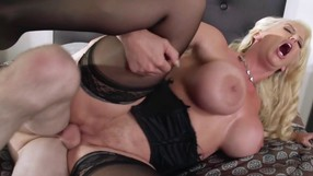 Blonde MILF Loves To Be Hardcore Nailed On The Bed.