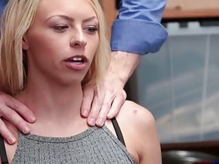 Blonde Teen Cauight On CCTV And Got Fucked Doggystyle