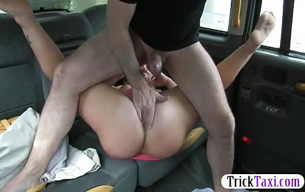 Chubby Blonde Babe Sucks And Fucks Dick For A Free Ride