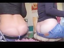 Girl Smells Her Friends Ass Crack