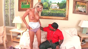 Randy Milf Klarisa Leone Sucks A Big Black Monster Cock