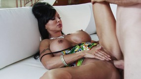 Busty MILF Gets Fucked On The Sofa And On The Floor