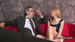 Cute Schoolgirl Is Teased And Drilled By Her Senior Schoolteacher