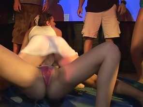 Dazzling Babes Dance On Stage With Naked Bodies