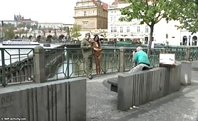 A Naked Beauty In Prague