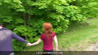 Petite Redhead Fucked In The Forest  – Let's Fuck Outside