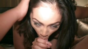Hot Amateur Dark Haired Girl Is Sucking A Cock