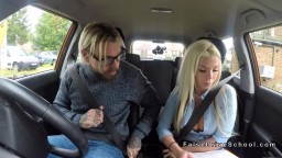 Inked Bearded Guy Bangs Busty Blonde In Car