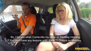 Fucking Inside A Car With A Giant Boob Blonde Slut