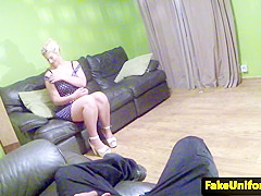 Curvy UK Babe Pointofview Fucked By Uniform Cop