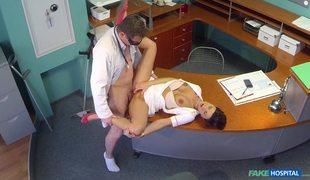 Lovely Nurse Gabrielle Loves Her Job In Fake Hospital
