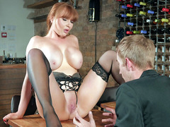 Ashleigh Devere Gets Pussy Licked By Danny D On The Table