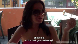 CZECH AMATEUR PORN – BOSOMY DARKHAIRED BABE HUNGRY FOR A DICK