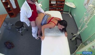 Fake Doctor Can't Miss His Chance To Fuck Busty Brunette Sandra Scout