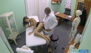 Skinny Young Girl Silvie Tricked Into Fuck By Fake Doctor