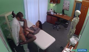 Amateur Lady In Ripped Pantyhose Morgan Moon Fucked By Fake Doctor