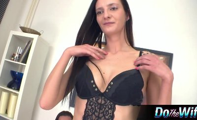 Sexy Wife Banged While Husband Watches 24231