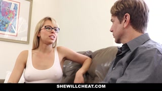 SheWillCheat – Sexy Blonde Girlfriend Fucks BBC For Cuckold Boyfriend