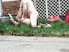 Horny Couple Outside