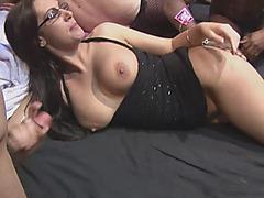Hot European Slut Gets On Her Knees As She Enjoys Being Gangbanged2