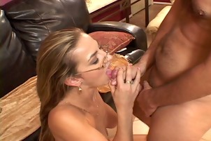 Light-haired Darien And Her Fuck-buddy Are Blowing And Having Sex