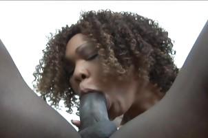 A Brunette Cum Sluper Blows A Guy With Big Dick
