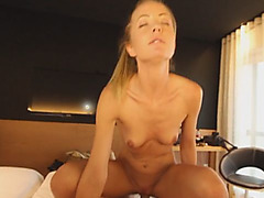 Pretty Young Blonde Cecylia Getting Fucked In Cowgirl Position After Going On Date