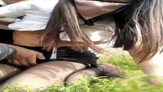 Ebony Thigh-hi Stockings Sales Female Having Superior Outdoor Sex