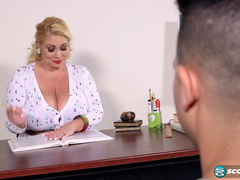 Samantha Andersson Mashes Own Tits While Experiencing Rough Sex