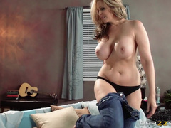 Mature Blonde With Big Tits Rides His Cock And Moans Out Loud