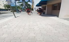 Candid Hot Bubble Butt Latinas In Downtown Hollywood, FL