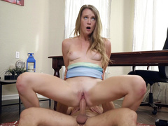 Ashley Lane Rolls Her Eyes Back As She Rides Her Doctor's Hard Cock