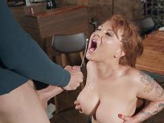 Chef Ashleigh Devere Tasting Her Clients Fresh Cum