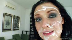 Cum Plastered Pornstar Aletta Ocean