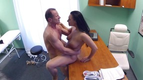 Muscular Doctor Is Punishing The Horny Brunette Hard
