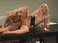Business Babe Aaliyah Love Gets Fucked On An Office Table