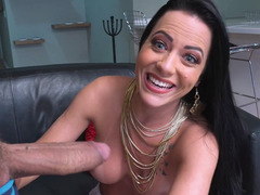 Analine Is Amazed By The Size Of Ramon's Cock