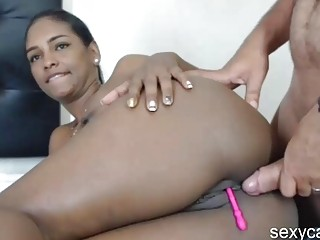 Big Ass Ebony Girl Take Hard White Cock