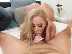 Savannah Bond Sucks Cock And Licks Balls In POV
