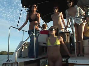 Small Tits Girls Having Fun On A Boat Together