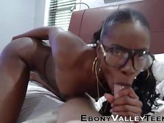 Pov Sucking Ebony Teen In Glasses