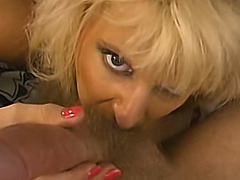 Busty Blonde Milf Sucking A Big Hard Cock