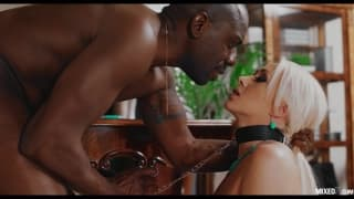 Stunning Blonde Is Filled With Black Dick
